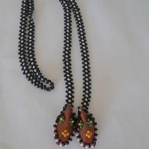 70's vintage boho goddess necklace
